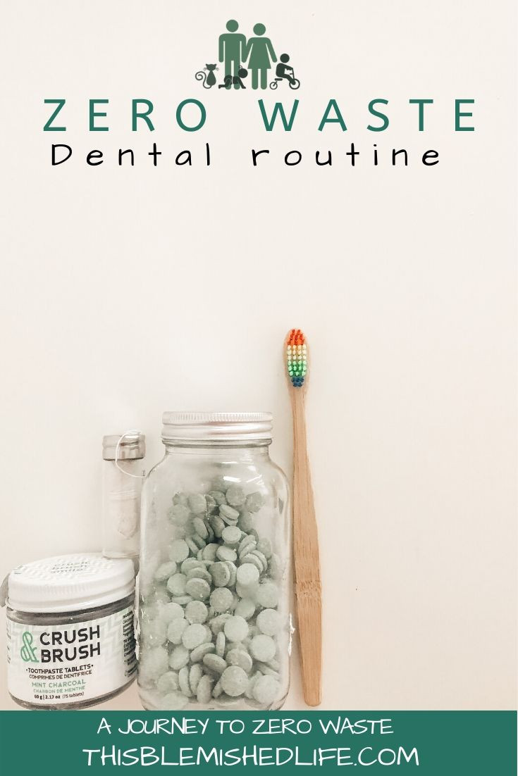 Zero waste dental routine