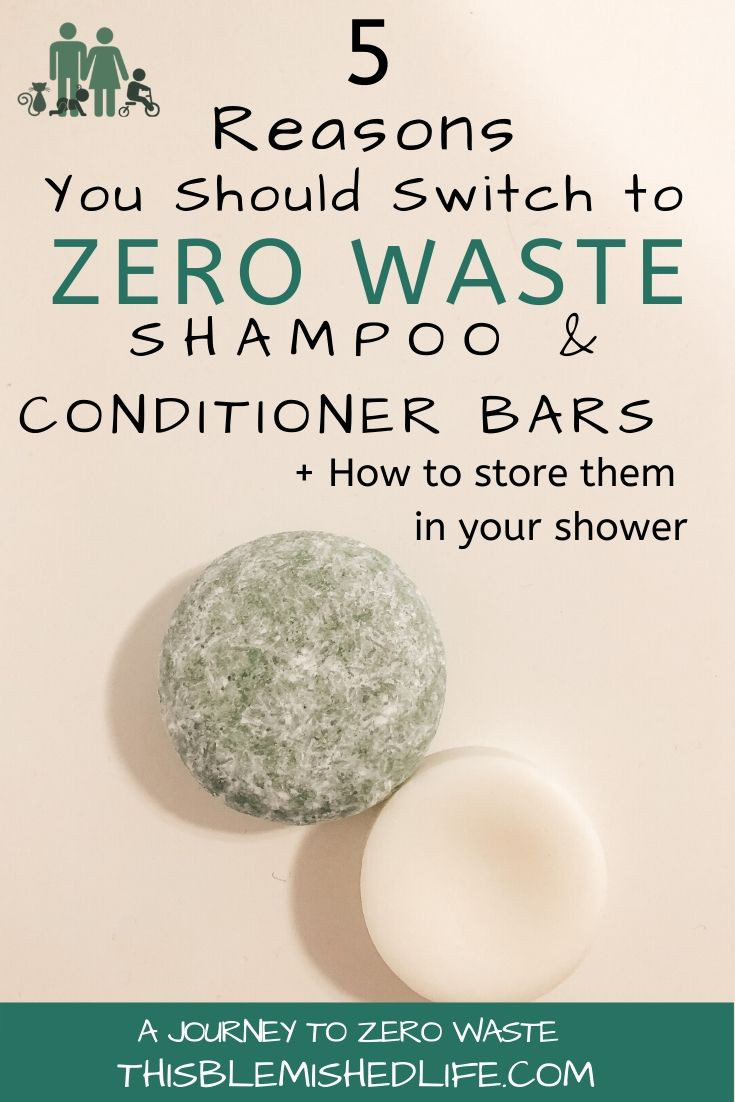 5 reasons to switch to zero waste shampoo and conditioner bars