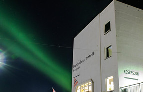 Northern lights by the hotel