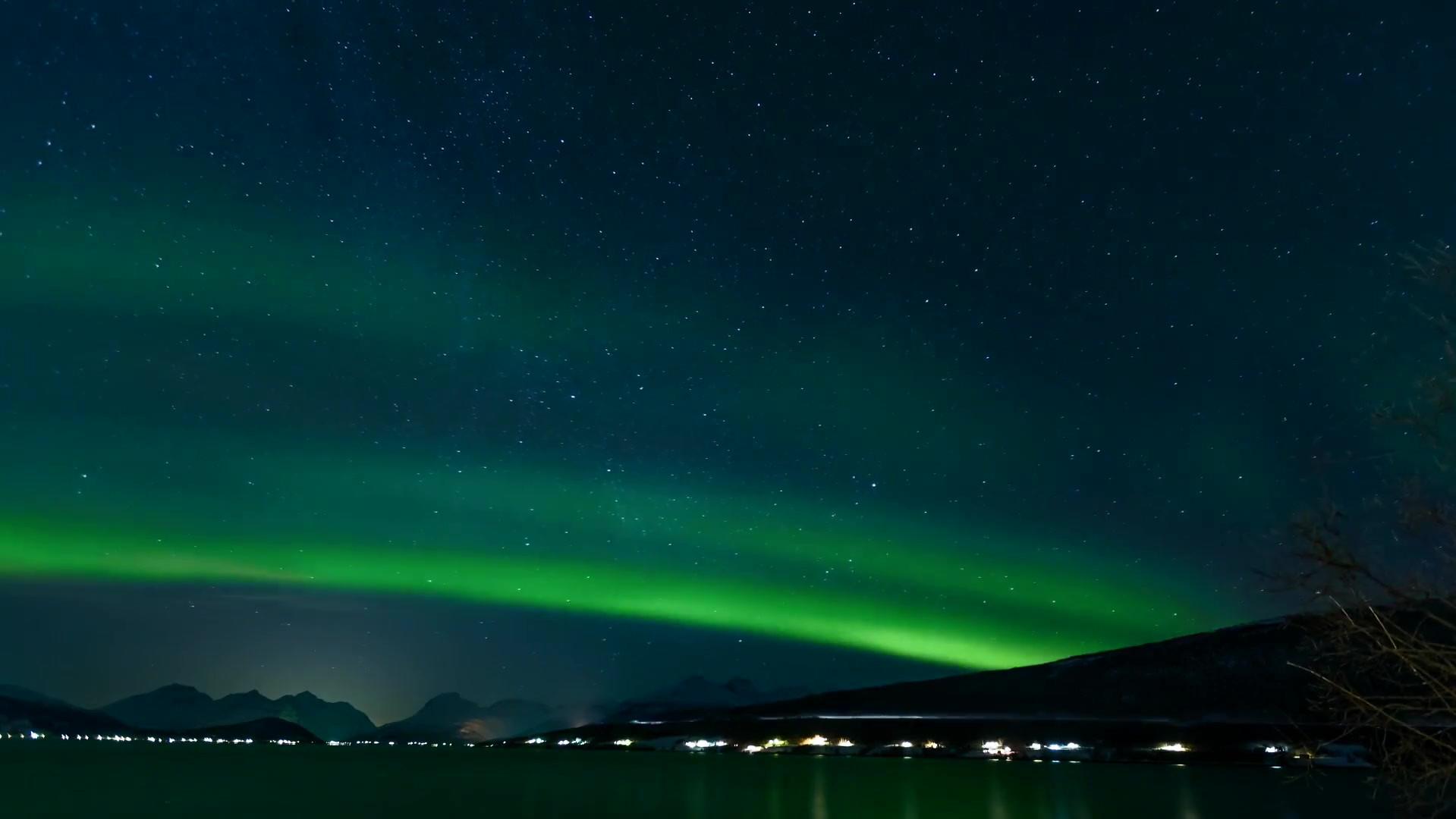 Time Lapse Video Of Aurora Borealis.mp4