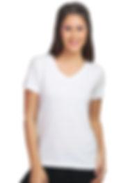 Threads of Freedom Social Cause Wholesale Bulk Customised Clothing Garment Shop Buy Blank White T-shirt Women V neck