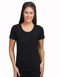 Threads of Freedom Customised T-shirt Wholesale Bulk Shop social cause support women empowerment Buy Blank Women Black Clothing Garment Crew neck Round neck