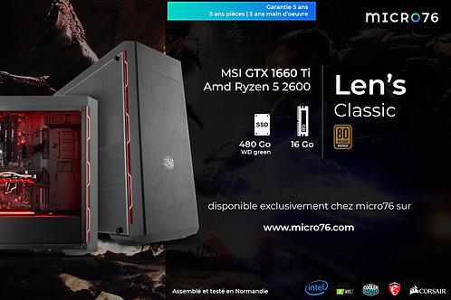 Len's Classic | R5 2600 - 16 Go - 480 Go SSD - GTX 1660 Ti