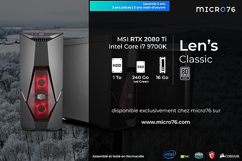 Len's Classic | i7 - 16 Go - 240 Go SSD - 1 To HDD