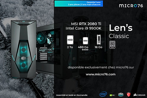 Len's Classic | i9 - 16 Go - 480 Go SSD - 2 To HDD