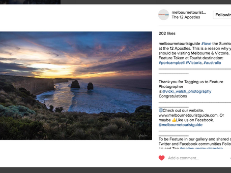 Instagram features by Melbourne Tourist Guide, Roaming Women & Ship Wreck Coast.