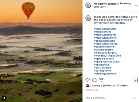 Insta features by Melb Camera Collective, World Wide Aust, GW Aust, MPE & Croydon Camera House