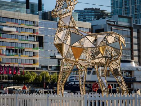 Christmas 2020 Docklands  Reindeer