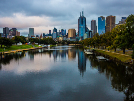Melbourne skyline shoot from Swan Street Bridge