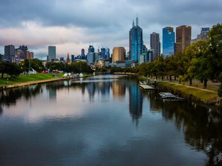 Melbourne skyline shoot from Swan Street Bridge