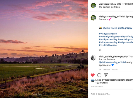 Instagram feature by Visit Yarra Valley Official