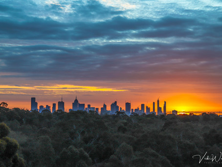 Yarra Boulevard, Kew - Sunset and Light Trails