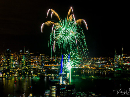 Winter Fireworks shoot from the Melbourne Star