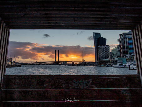 Melbourne Docklands and Bolte Bridge