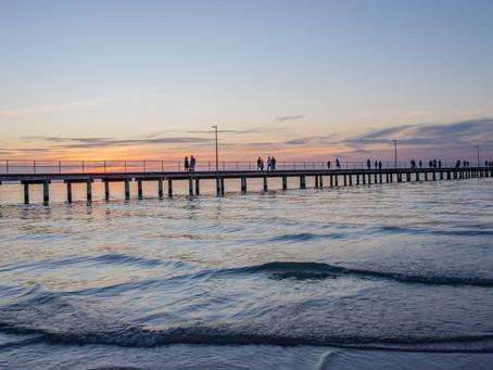 Easter Sunset at Rosebud Pier