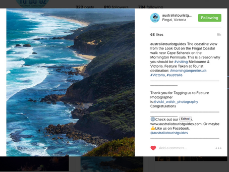 Instagram feature by Australia tourist Guides