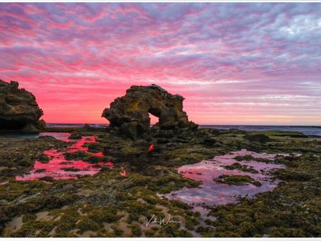 Keyhole Rock, Bridgewater Bay Poster