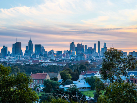 Melbourne from Yarra Bend