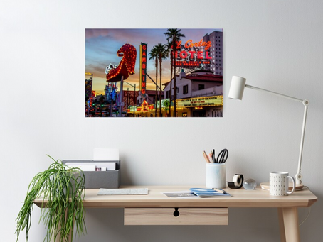 Fremont East District, Downtown Las Vegas, Poster Purchased