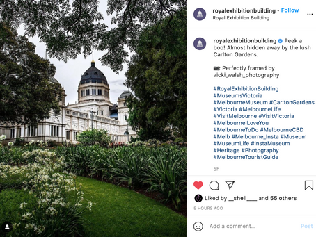 Instagram feature by Royal Exhibition Building