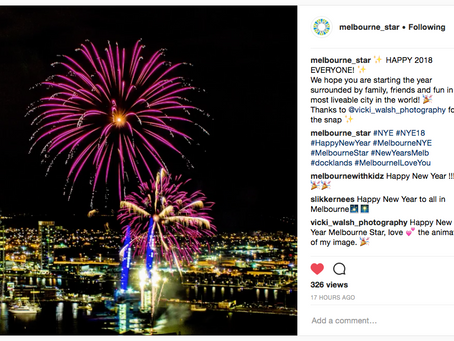 Instagram and Facebook feature Melbourne Star