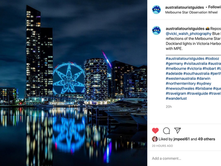 Instagram & Facebook features by Australia Tourist Guides & Total Lights