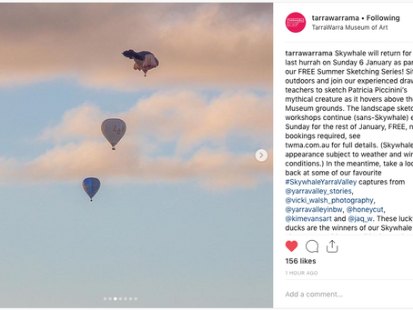 TarraWarrama Skywhale Photo Competition and Instagram feature.