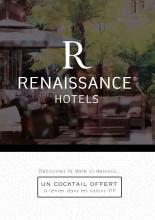 Création et élaboration d'un flyer - type jeux à gratter - pour la chaîne hôtellière Renaissance