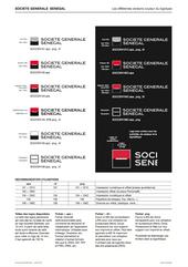 création des déclinaisons de logotypes et planche de explicative pour Société Générale Sénégal