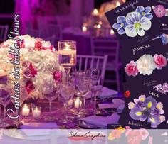 Création de cartons de table pour evènement privé