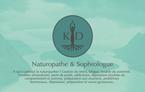 Creation d'une charte graphique et déclinaison tout supports (ici cartes de visites) pour Karine Addy, sophrologue et naturopathe