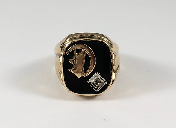 Diamond and Onyx Poison Locket Ring