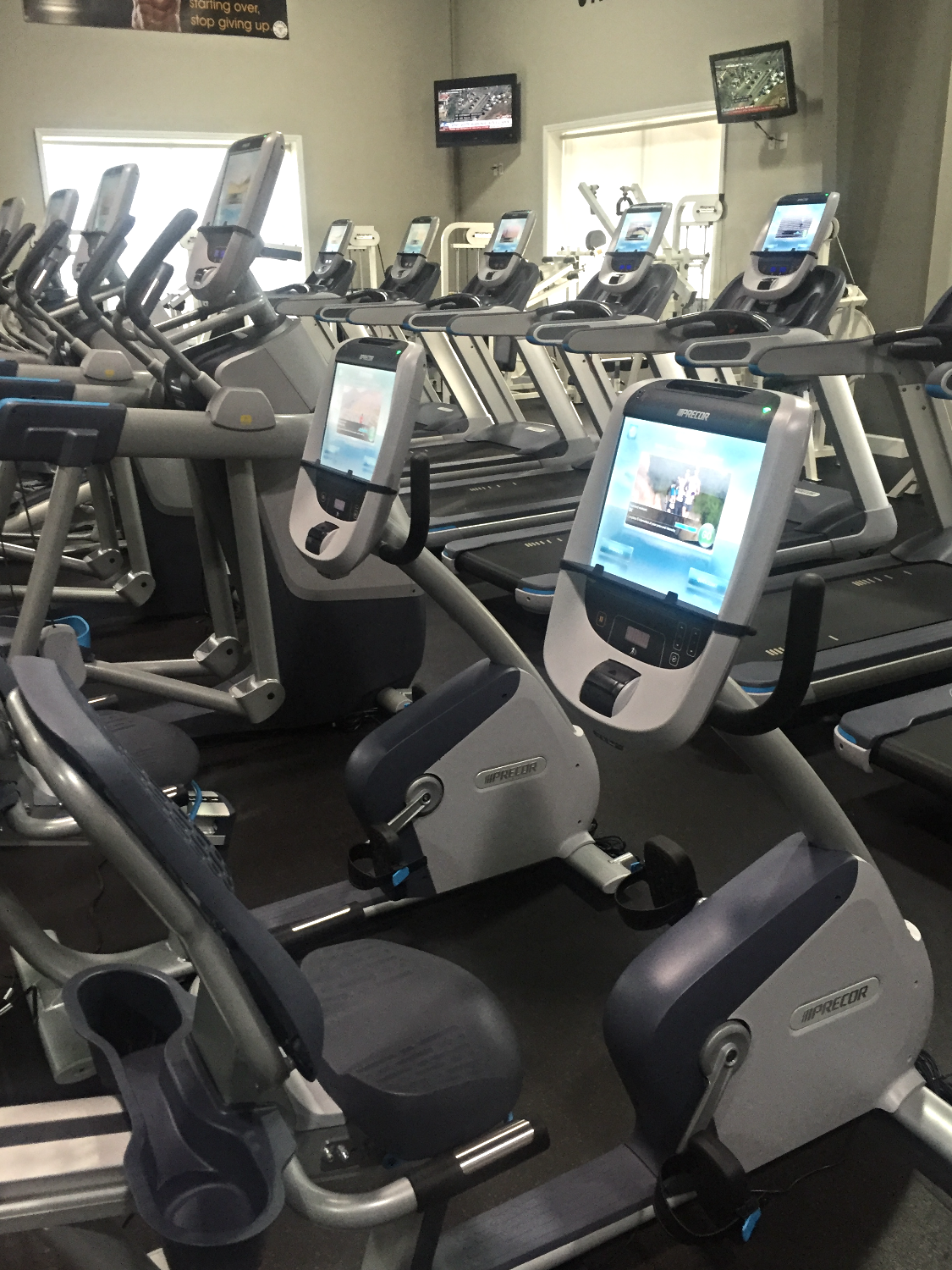 Precor Recumbent Bike w/P80 Consoles