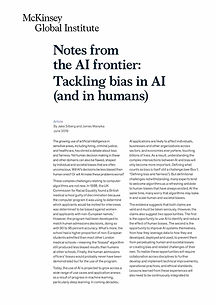 Notes from the AI frontier: Tackling bias in AI - 8 pages
