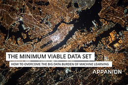 The minimum viable data set