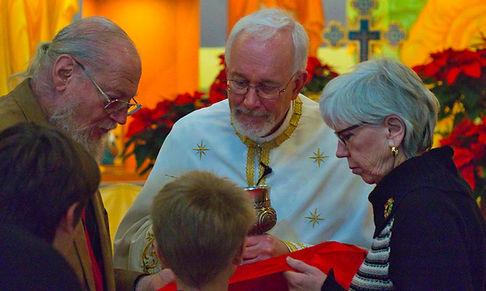 Faithful receiving Holy Communion
