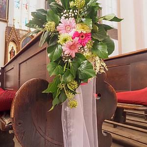 Svatba v kostele v Chrudimi