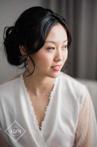 detroit korean bride wearing natural makeup