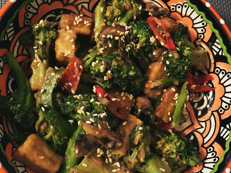 Fried Tofu with broccoli and mushrooms - it's all about the mindset!