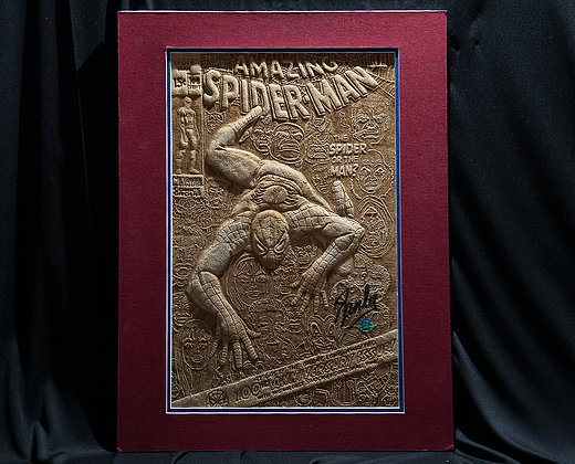 Spider-Man #100 - Cover Recreation - Autographed by Stan Lee