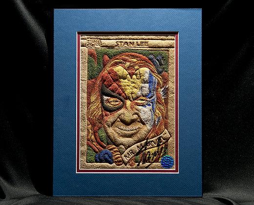 "Stan Lee ""Mr. Marvel"" Card - Autographed by Stan Lee himself."