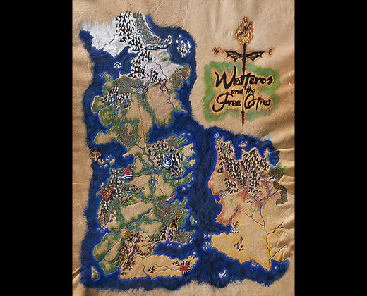 Game of Thrones - Map of Westeros Giclée Reproduction