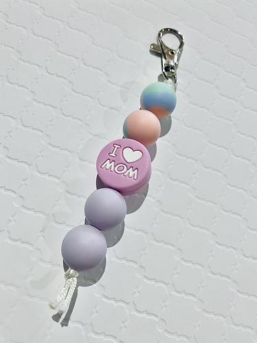 Mom Silicone Keychain