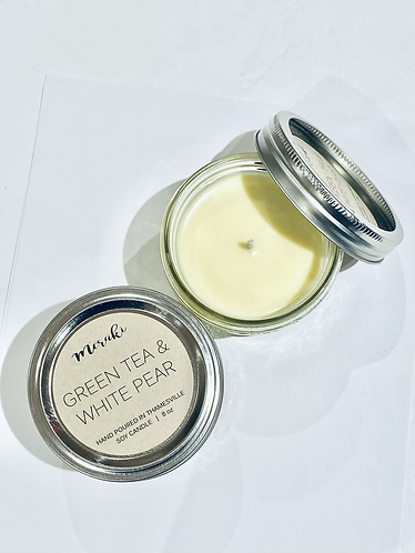 Green Tea & White Pear Soy Candle