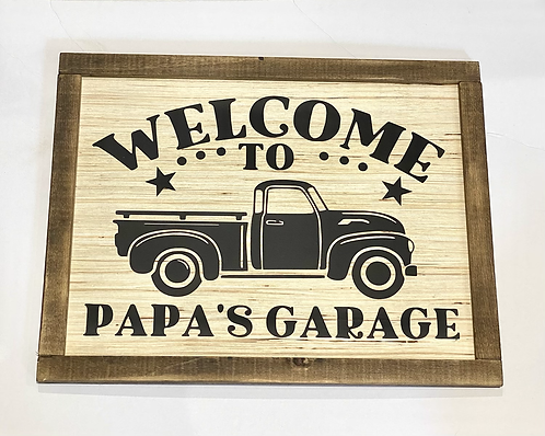 Welcome to Papa's Garage