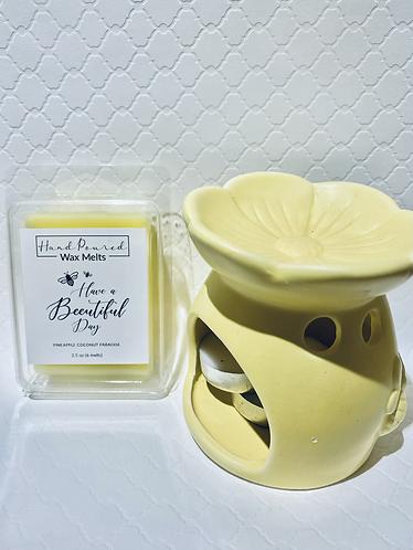 Yellow Wax Melt & Warmer Gift