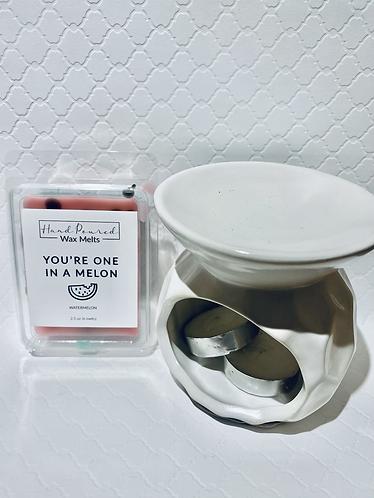 White Wax Melt & Warmer Gift
