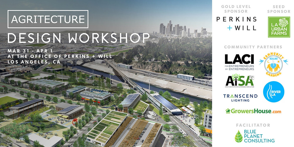 The workshop is sponsored by Perkins+Will, as well as other partners, including  LA Cleantech Incubator's (LACI)