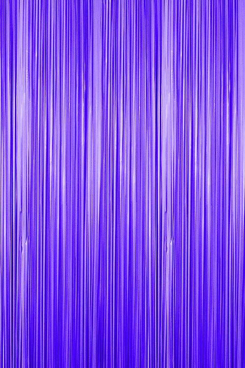 Semi-Gloss (Plastic Wet Look) Purple Fringe Curtain
