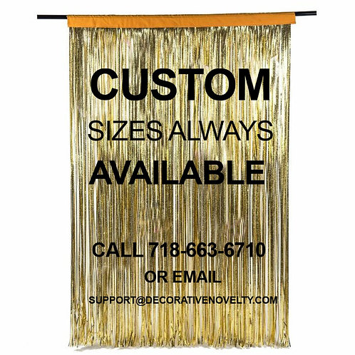 Custom Size Metallic Fringe Curtain